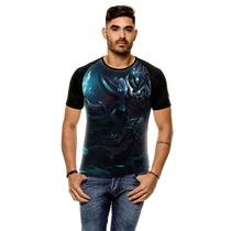 Camiseta Raglan League Of Legends Karthus Voz Mortal Masculi