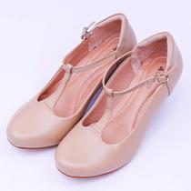 Sapato Feminino Dança De Salão Em Couro Neftali Boneca