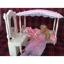 Barbie Dulces Sueños, Cama Y Tocador De Lujo Colección 80´s