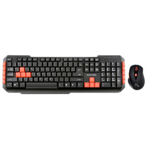 Kit Gamer Combo Sem Fio Mouse + Teclado Multilaser Tc194 Red