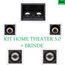 Caixa Teto Gesso Home Theater Kit Completo Embutir 5.0 480w