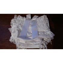 Calcinha Bebê Nenem Malha Branca Renda Babado Laço 1 A 6 M