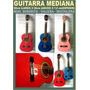 Guitarra Mediana Señorita Viajera Mochilera De 7 A 10 Años