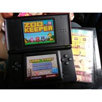 Nintendo Ds Lite Negro Con Rojo