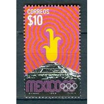Sc 1001 Año 1968 Piramide Del Sol Teotihuacan