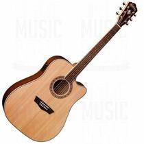 Guitarra Electroacustica Washburn Wd10sce Natural