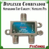 Diplexer Combinador Separador Uhf Cabletv / Satelite Fta