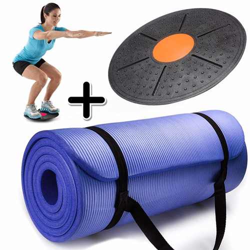 Kit Mat Yoga Colchoneta Pilates Nbr 10mm + Tabla Equilibrio -   914 ... e97d7cf2c436