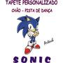 Tema Sonic Tapete Personalizado Aniversários Chão Salão