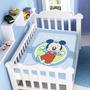Cobertor Jolitex Infantil Berço Bebê Disney Mickey Feliz