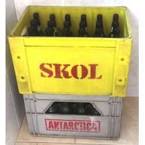 Engradado De Cerveja Com 24 Cascos / Garrafas Vazias