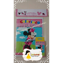 Kit Colorir Minnie Rosa Com Giz De Cera ( Artmovie)