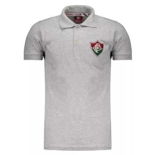 0b9fdbe111 Polo Fluminense Cinza Oficial Licenciada - R  60