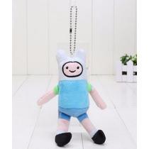 Boneco Finn Pelúcia Adventure Time Chaveiro Hora Da Aventura