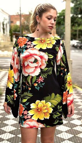 0e64dc51a farm vestido manga longa flor por flor. Carregando zoom.