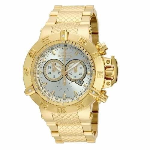 16b1cb14797 Relógio Invicta Subaqua Noma 3 Iii 14501 Gold 18k Original ! - R  554