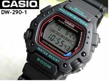 2ea17c71e78 Relógio Casio Masculino Preto Dw-290-1vs Original Novo - R  269