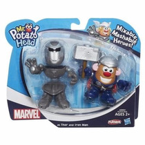 Sr Cara De Papa Hasbro Original Mr Potato Head Iron Man Thor