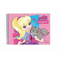 Caderno Desenho Cartografia Polly Pocket Capa Dura 96 Fls
