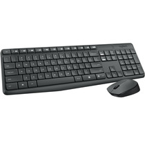 Combo Wireless Teclado E Mouse Preto Mk235 Logitech