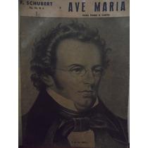 Partitura Piano Canto Ave Maria - F Schubert Op52 Nº 6 - L2