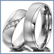 Argollas De Matrimonio Mod. Desire Oro Blanco 10k Solido