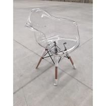 Silla Eames Con Brazo Transparente By Samma Home