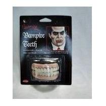 Presas Dracula Dentadura Dente De Vampiro Silicone