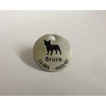 Plaqueta Para Cachorro - Aço Inox Gravado Em Baixo Relevo
