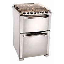 Cocina Electrolux Inoxidable 56cm Doble Horno Autoli Novogar