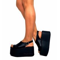 Zapatos Sandalias Zuecos Plataforma De Goma Primavera 2016
