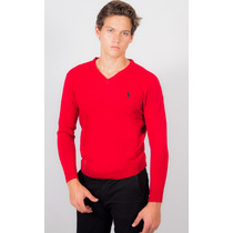 Sweater Hpc Polo Rojo