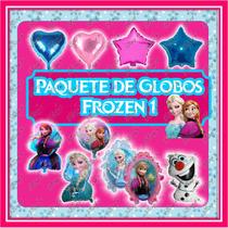 Paquete 1 De 33 Globos De Frozen Ana Y Elsa Princesas Disney