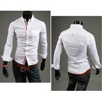 Blusa Masculina Social Camisa (frete Grátis) Roupa Loja
