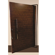 Porta Pivotante De Alumínio Cor Madeira 1300x2200 - Lisa