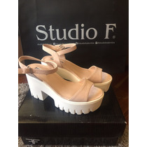 Sandalias Color Crema Studio F