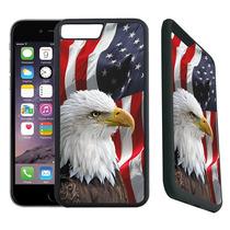 Estuche Iphone 7 Plus Diseñador Caucho Águila Calva American