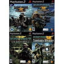Socom Ii Us Navy Seals Playstation 2 (kit 4 Jogos Ps2 Guerra