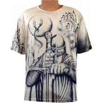 Camiseta São Jorge Guerreiro E Orixas Extra G - 100%viscose
