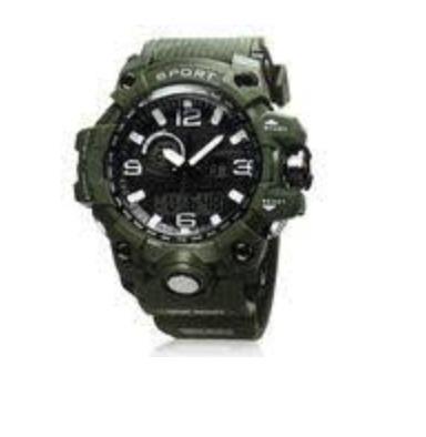 7a33e2ca09e Relógio G-shock Analógico Digital Pulseira Verde Amuda - R  90