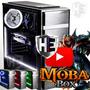 LED Verde - Delta Moba Box V7Z - Pc Gamer Intel i7 7700 - Geforce GTX 1050 ti 4GB - 16GB DDR4 - 1TB - SSD 120GB - H110M - 500W PFC 80 Plus - Moba Box - Desktop - Barato - PC Game - Novo CPU Completa - Edição Vídeo Foto Youtuber Cad Render 3D