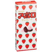 Doces Do Japão - Meiji Apollo - Cones De Chocolate E Morango