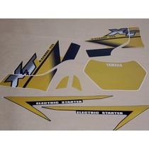 Jogo De Adesivo Faixa Xt 225 2002 Amarela Dourada