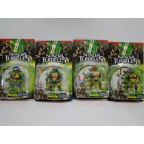 Kit Tartarugas Ninja 4 Bonecos- Set Completo Tartarugas Tmnt