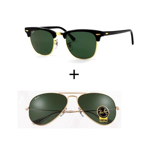 b447223fb2347 Kit 2 Oculos Ray-ban Masculino Feminino Promoçao Verao - R  299