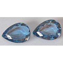Rsp 2764 Par Topázio Blue London 17,3x12,4 Com 28,45ct