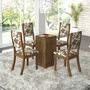 Conjunto Para Sala De Jantar Mesa E 4 Cadeiras Viero Adri
