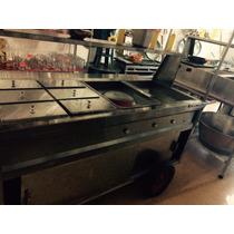 Carro De Acero Inox Para Guisados Y Tacos