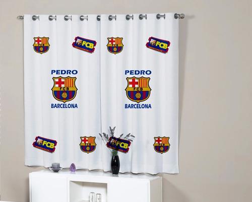 Cortina quarto barcelona bar a time personalizada com nome - Comprar cortinas barcelona ...
