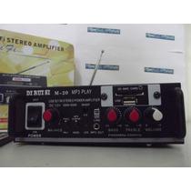 Amplificador Potência 1.000w Com Bluetooth Mp3, Controle Fm!